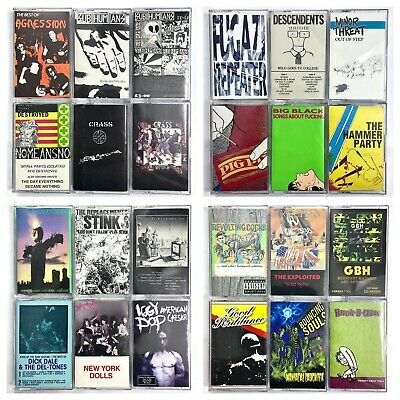 BUILD UR OWN Cassette Lot - Punk, Hardcore, Ska, Reggae + More - Rare Titles!!!
