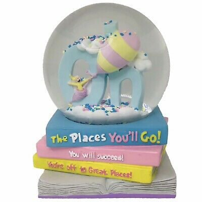 Dr Seuss Musical Snow Globe Water Oh The Places You'll Go New Career School
