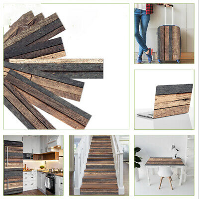 Wood Grain Floor Tile Board Wall Stickers Adhesive Home Decal Wallpaper Sticker