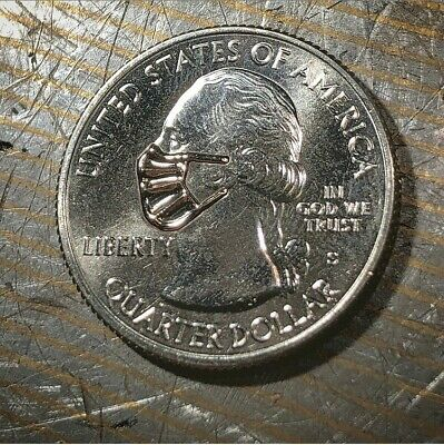 REAL SOMOA QUARTER! MICRO LASER WELDED FACE MASK,BAT WITH TEAR DROP Rare NEW!