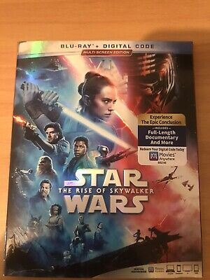 Star Wars Rise of Skywalker Blu-ray Digital Slipcover Brand NEW Same Day Ship