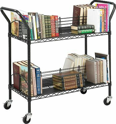 Safco Wire Book Cart, Black (5333BL)