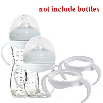 1X Non-Slip Bottle Handle Natural PP Glass Feeding Baby Bottle Accessories Chic