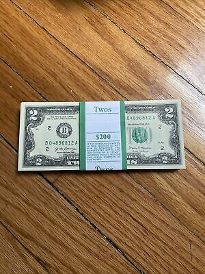 2017 A (1) Two Dollar Bill $2 Note ( NEW YORK ) Consecutive ,Uncirculated