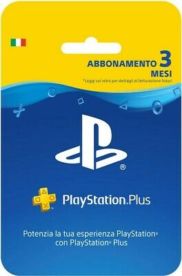 Sony PlayStation Plus 3 mesi,abbonamento 3 mesi ps4 INVIO CODICE IMMEDIATO