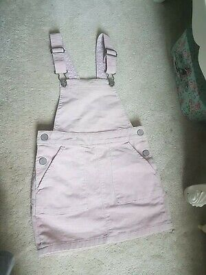 Girls H&M pale Pink Cord Pinafore Age 5-6