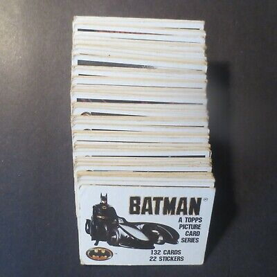 Pick From List : 1989 Topps Batman Cards - Mostly Exmt