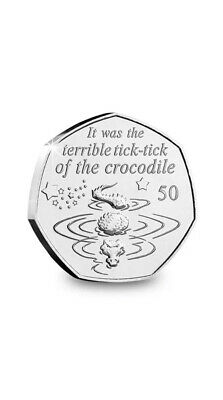 2019 Peter Pan 50P Tick Tock Crocodile 90Th Anniversary New Release Uncirculated