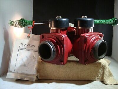 New Old Stock Akron Brass 1582 2-Way WYE Suction Siamese Firefighting Valve