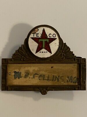 Vintage Texaco Motor Oil Service Station Attendants Name Badge Louis Wright