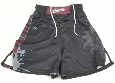 Men's Brute Fight Shorts Size AM Black Red Technical Fit Fight Shorts