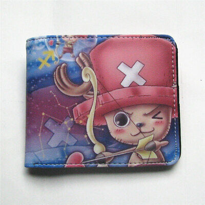 ONE PIECE Luffy and Portgas·D· Ace Anime Wallet Bifold Leather Purse Coin Bag