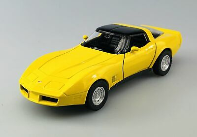 WELLY 1982 CHEVROLET CORVETTE COUPE RED 1:34 DIE CAST METAL MODEL NEW IN BOX