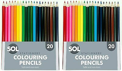 Assorted Colouring Pencils x 40 | Quality Coloured Pencil Set for Arts and Craft