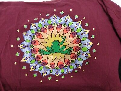 Peace Frogs XL Maroon SS Graphic Tee