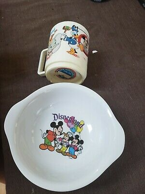 Disneyland Children's Bowl And Cup, Preowned