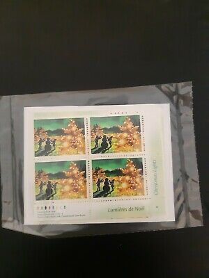 Canada stamps 1924 matched set, MNH, Chriatmas Lights, 2001
