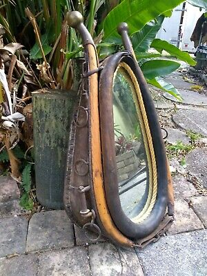 HORSE HAME & COLLAR with BRASS ENDED HAMES & MIRROR in Top condtion!