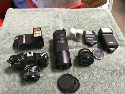 Yashica FR 35mm Film Camera with 50mm f/1.7 Lens & Extras Items  W-44