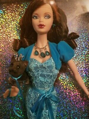 Barbie Birthstone Beauties Miss Turquoise December Brunette Pink Label NRFB