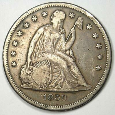 1859-O Seated Liberty Silver Dollar $1 - VF Details - Rare Early Type Coin!