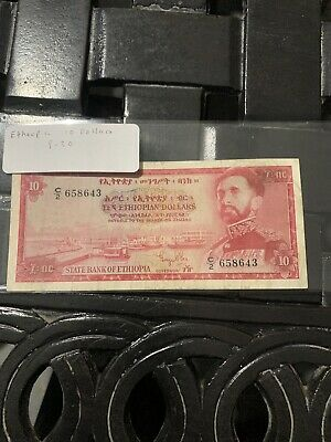 Ethiopia ... P-20a ... 10 Dollars ... ND(1961) ..vg