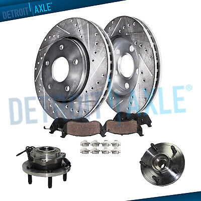 Stirling 2015 For Chrysler Town /& Country Rear Cross Drilled Slotted and Anti Rust Coated Disc Brake Rotors and Ceramic Brake Pads Note: w//328mm Rotor Dia