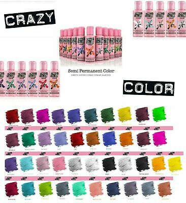 Crazy Color Hair Colour Semi Permanent  Temporary Dye Conditioning Hair 100ml