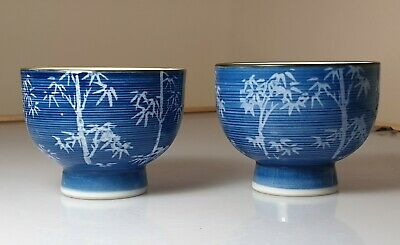A Stunning Pair Of Chinese Blue & White Porcelain Tea Bowls.
