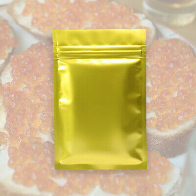 QQ Studio Food Grade Gold Packaging Pouches with Custom Printing and Ziplock