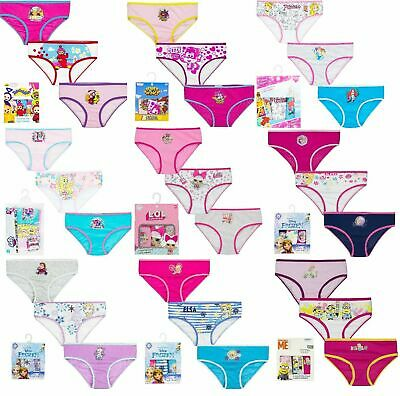 Boys//Girls Underwear Knickers Briefs Pants 3 Pack Boxed Minions