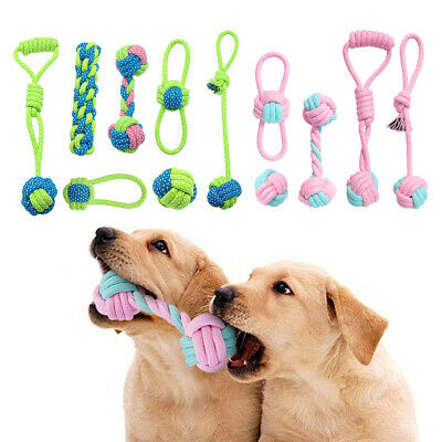Braided Pet Dog Chew Toys Cotton Rope Dog Training Teeth Cleaning Tool 5/7pcs