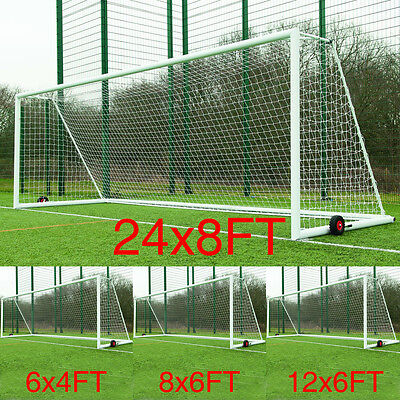 Multi Size Football Soccer Goal Post Nets For Sports Training Match Replace