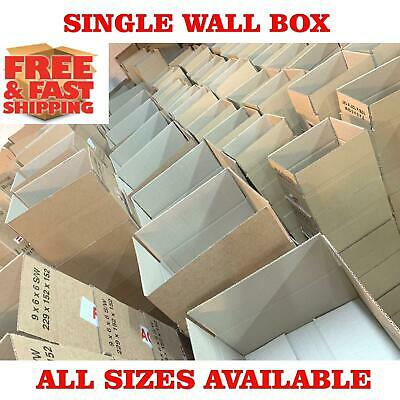 Single Wall Cardboard Boxe Packing Parcel Mailing Posting Moving Storage Carton