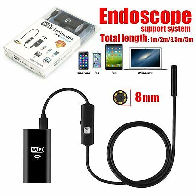 8mm WIFI Endoscope Wireless 6 LED Borescope Inspection Camera For iPhone Android