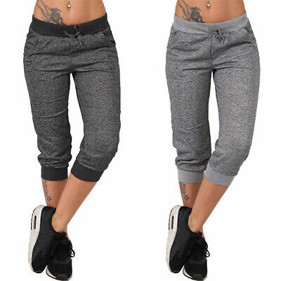 Women Capri Jogger Trousers Ladies Tracksuits Bottoms Cropped Pants Lounge Wear