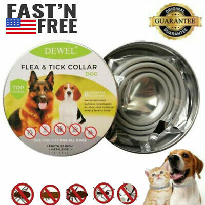 Dewel Cheaper than Seresto! Flea Tick Control Collar Small Large Dog  8 Month