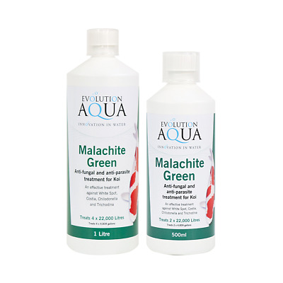 Evolution Aqua Malachite Green Anti Parasite Fungus Koi Medicine Pond Treatment