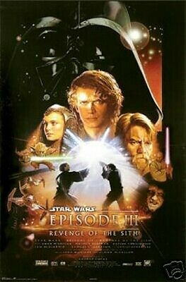 Star Wars Episode III 3 Movie Poster 24 x 36 Revenge of the Sith 2005 New
