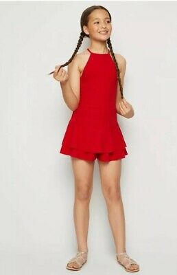 New Look - 915 Girls Red Skort Playsuit - Age 14 Years - New
