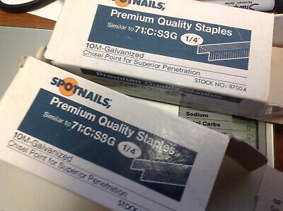 Spotnails #87004 Galvanized Chisel Point Staplers, Open Boxes (2)