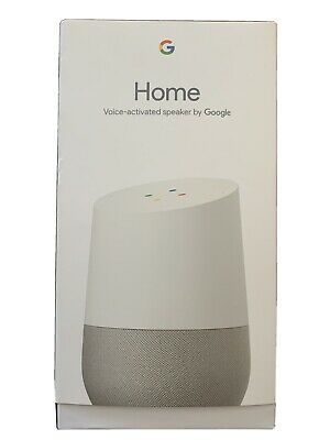 New Google Home Smart Speaker with Google Assistant, White/Slate NIB Unopened