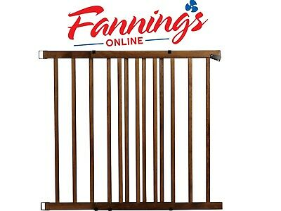 Evenflo Top of The Stair Extra Tall Hardware Mount Gate Dark Wood