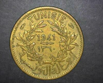Tunisia 1941 Fifty Centimes Km246 Extremely Fine ~Wc824