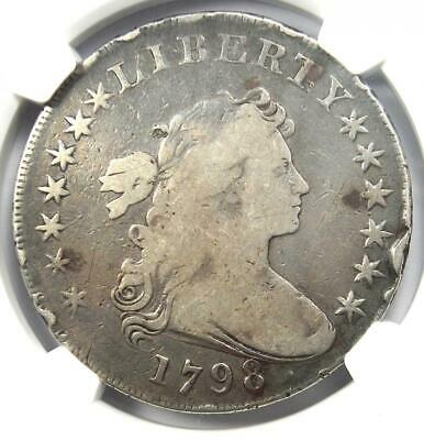 1798 Draped Bust Silver Dollar $1 - Certified NGC Fine Details - Rare Coin!