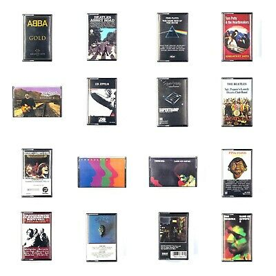 BUILD UR OWN Cassette Lot - Classic Rock - Zeppelin, Pink Floyd, Bowie + More!