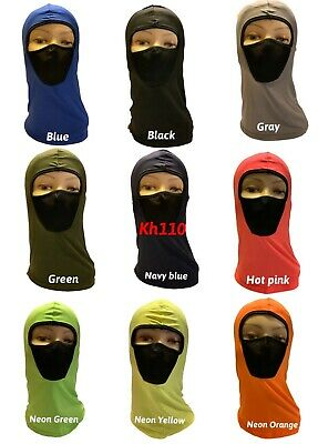 1 Hole Full Face Mask Various Color Ski Safety Lightweight Winter Cap Balaclava