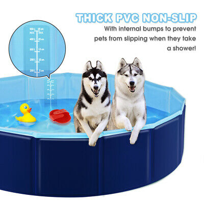 Foldable Pet Dog Swimming Pool Bath Tub Cat Dog Puppy Kids Shower Bathtub M/L/XL