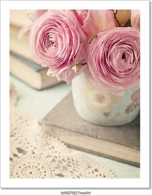 Pink Flowers Art/Canvas Print. Poster, Wall Art, Home Decor