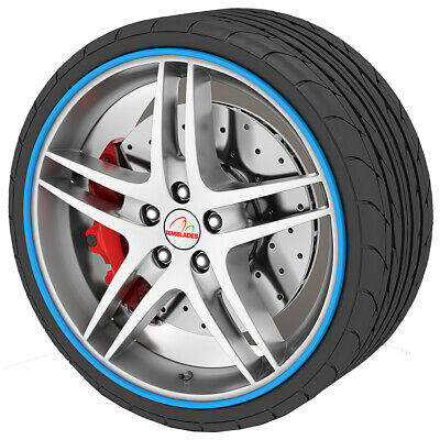 Rimblades Alloy Wheel Protector Blue Easy To Install High Quality New